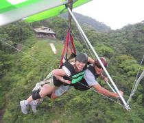 Hang Giding next to Pedra Bonita Launch in the Tijuca Forest